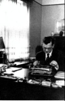 Hans Fallada at his typewriter