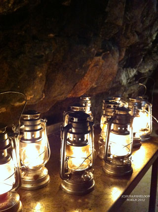photo of cave lamps