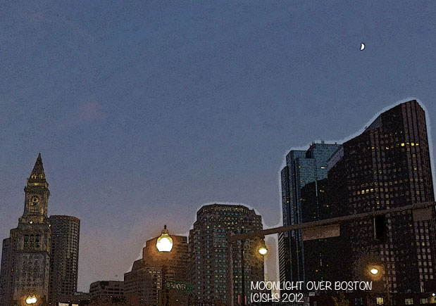 Moon Over Boston by shs