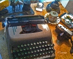 Photograph of the authors desk, susan sheldon nolen