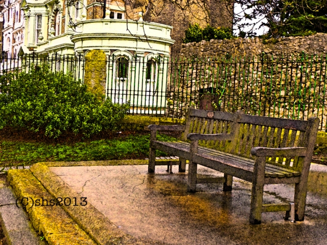 benches in Rochester Kent, photographed by susan sheldon nolen