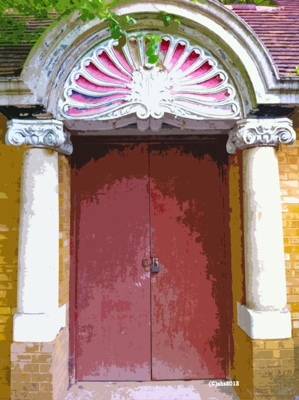 Photograph of a Door at Chislehurst Caves, London, by Susan Sheldon Nolen