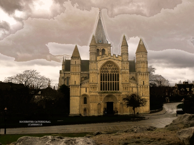 A view of Rochester Cathedral taken from the Castle, by susan sheldon nolen