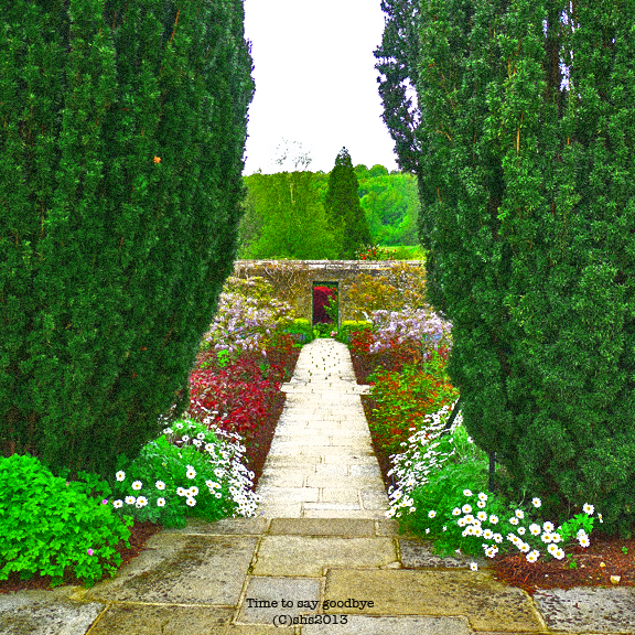 Photograph of the gardens at Chartwell Kent by susan sheldon nolen