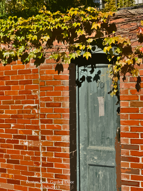 photograph of a Boston Alleyway door by susan sheldon nolen