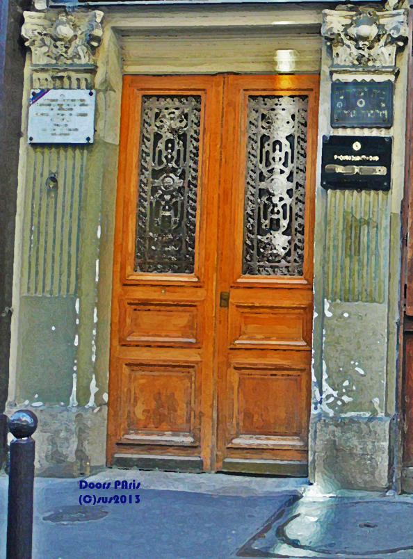 Photograph of a paris door by susan sheldon nolen