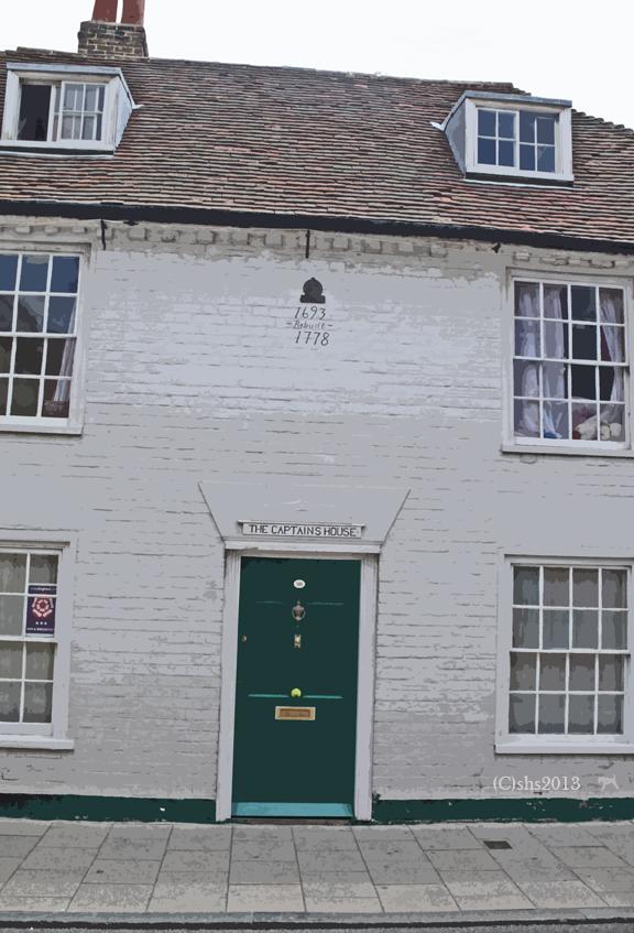 Photograph of a door in Whitstable by susan sheldon nolen