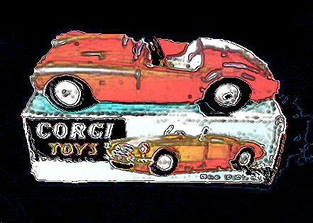 photo art of corgi matchbox mgs by susan sheldon nolen