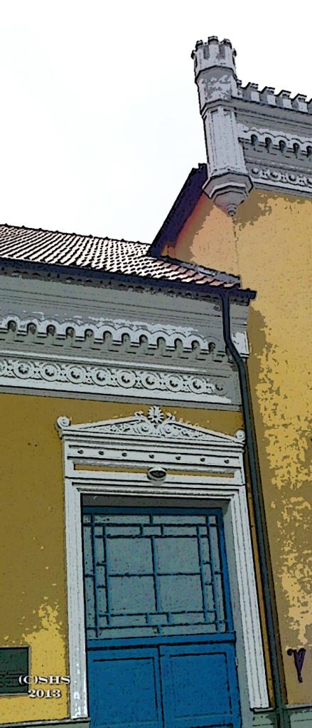 Photograph of a door in Klaipeda Lithuania by susan sheldon nolen