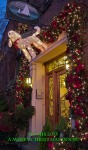 Photograph of a Christmas Door with Poodle by susan sheldon nolen