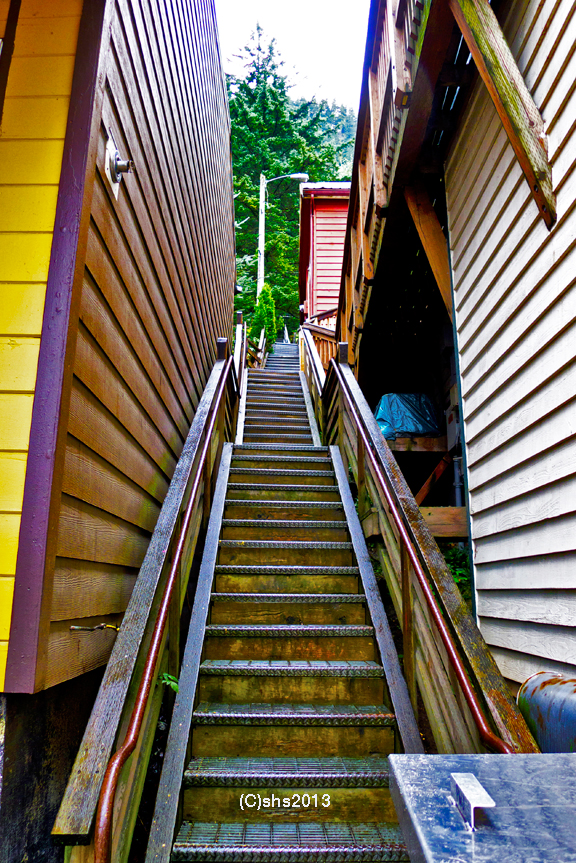 photograph of juneau stairs by she 2013