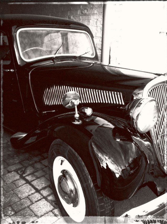 black and white photo of a car by susan sheldon nolen