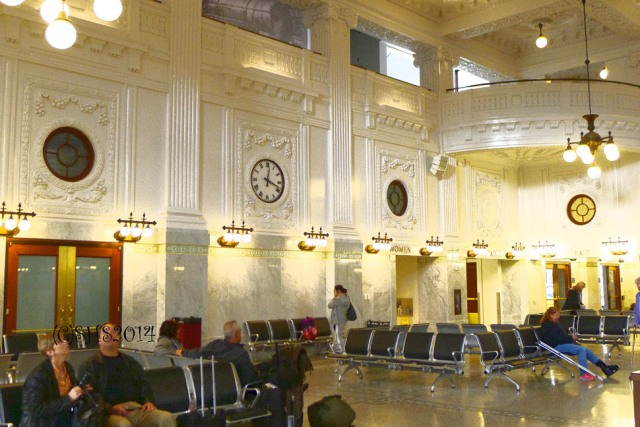 Photograph of clock at king street station seattle susan sheldon nolen