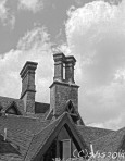 Susan Nolen's Black and white photograph of three chimneys in Kent