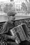 Susan Sheldon Nolen's Portrait of accordion Player in paris