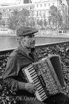 Susan Sheldon Nolen's Portrait of accordion Player in paris