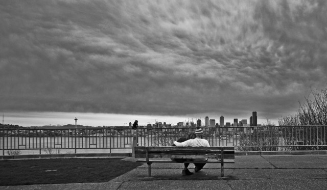 susan nolen's photograph of two lovers in Seattle Washington