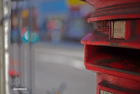 Susan Nolen's London Red Pillar Post Box Photograph