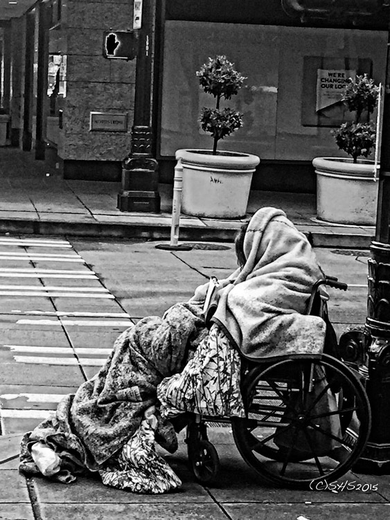 Susan Nolen's Photograph of a homeless woman in Seattle
