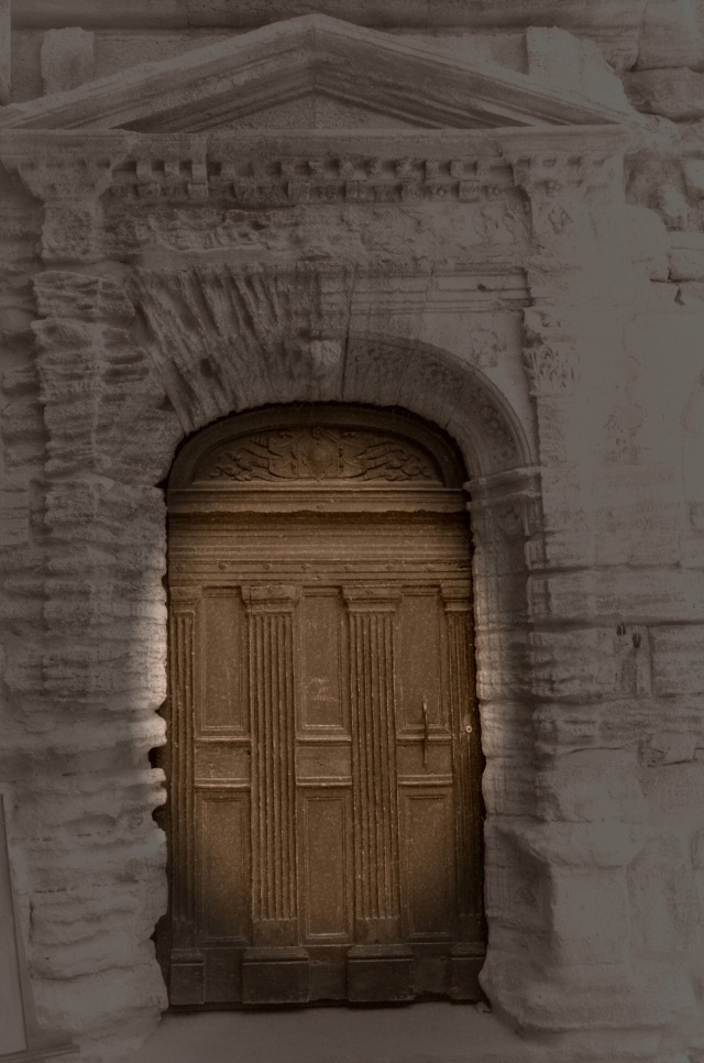 Photograph of a door in Gordes France by susan sheldon